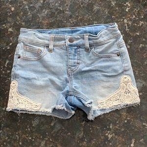 Girls Cherokee adjustable waist jean shorts